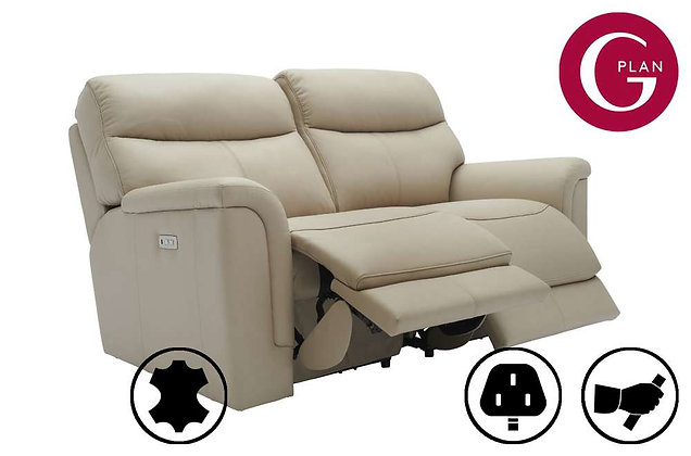 G Plan Harrison Leather 2 Seater Recliner Sofa