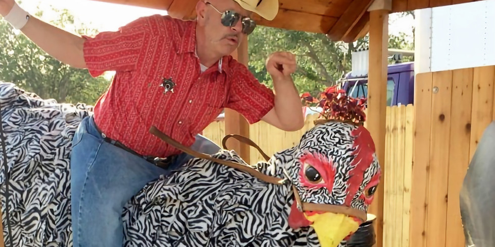 The Amazing Chicken Rider from the Zambini Brothers