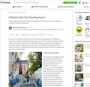 9 Stylish Side Yard Seating Areas