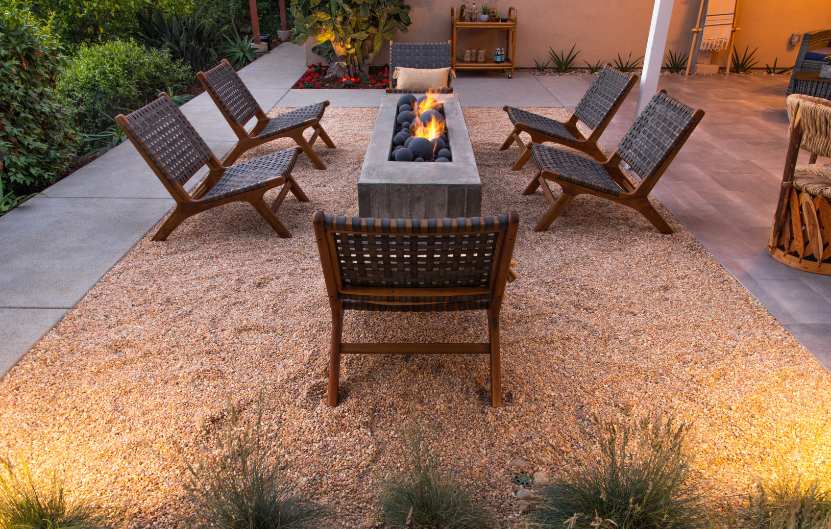 Brookside Design Contemporary Landscape Design. Custom outdoor furnishings. Custom firepits. Modern landscape architecture. Contemporary landscape design.