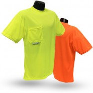 ST11-N NON-RATED SHORT SLEEVE SAFETY T-SHIRT WITH MAX-DRI™