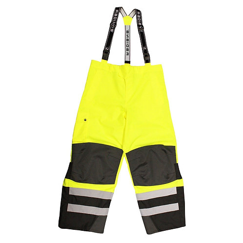 Radians RW32-EZ1Y Heavy Duty Rip-Stop Waterproof & Breathable Pants with Bib - L