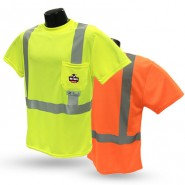 ST11UV-2 CLASS 2 HI-VIZ SAFETY T-SHIRT WITH RAD-SHADE® UV PROTECTION