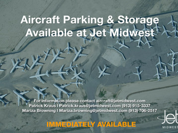 Jet Midwest has Aircraft Parking and Storage Immediately Available