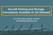 COVID-19 Crisis: Jet Midwest has aircraft parking available