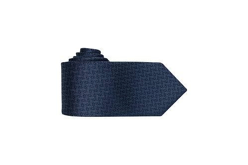 Галстук Bernd Hennes глубокого синего цвета с геометрическим узором.