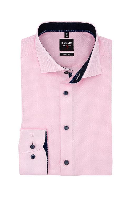 Рубашка Olymp Level Five в розовых тонах с выделкой.