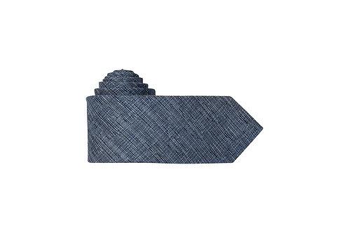 Галстук Olymp тёмно-синий меланж с вкраплением серебряной нити
