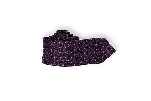 Галстук Olymp фиолетового оттенка с принтом Polkadots.