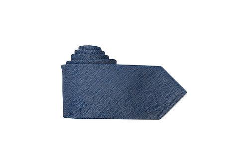 Галстук Olymp синий меланж со стальным отливом