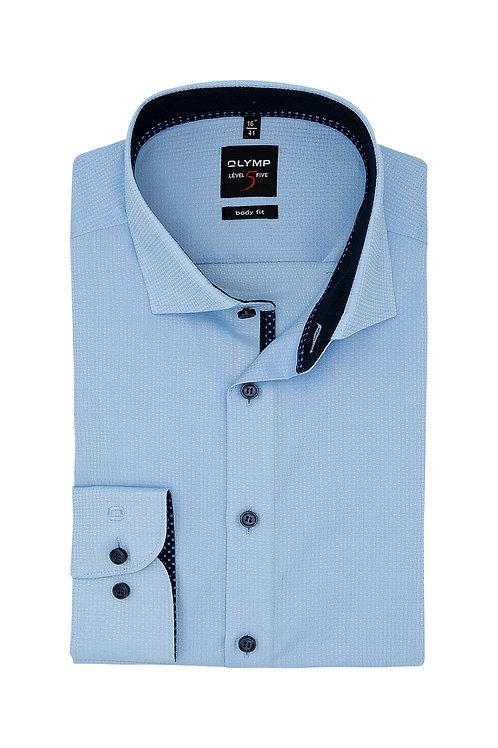 Рубашка Olymp Level Five светло-голубая с выделкой.