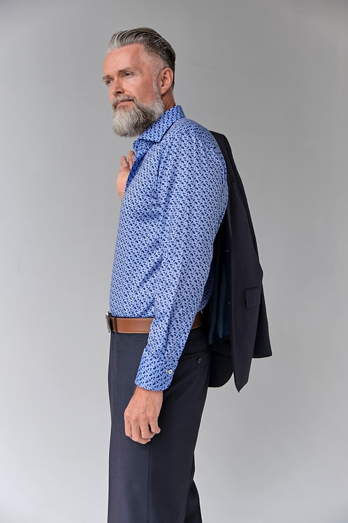 Мужская рубашка Olymp Signature цвета лаванды с дизайном.