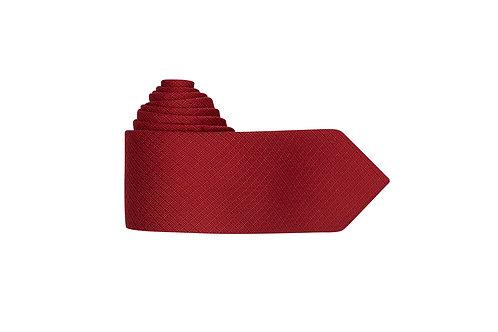 Галстук Bernd Hennes насыщенного красного цвета с геометрическим дизайном