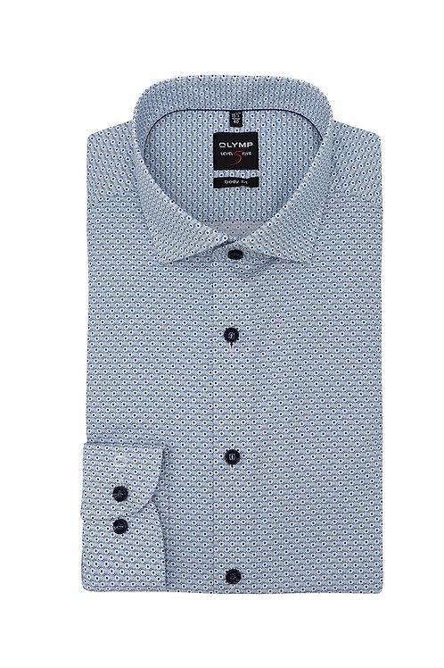 Рубашка Olymp Level Five с микро-дизайном в голубых тонах.