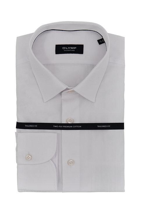 Мужская рубашка Olymp Signature Premium белого цвета (POPLIN)