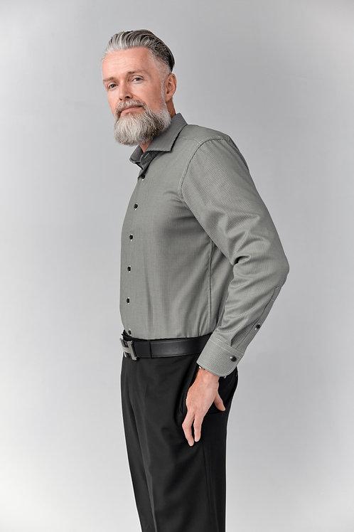 Мужская рубашка Olymp Signature Premium c отливом горчичного оттенка.