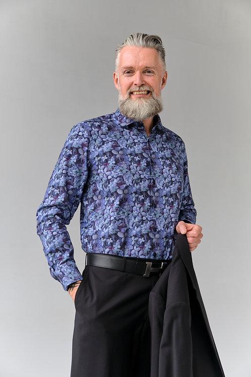 Мужская рубашка Olymp Signature Premium с дизайнерским принтом