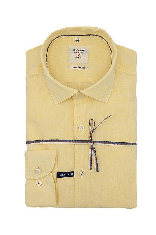 Рубашка Olymp Level Five цвета lemon меланж.