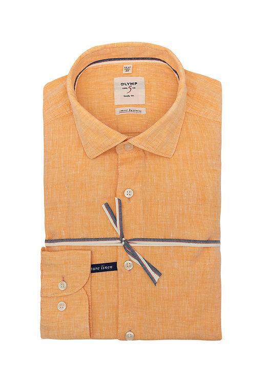 Рубашка Olymp Level Five цвета orange меланж.