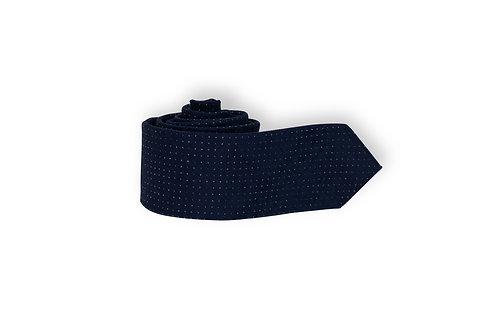 Галстук Olymp темно-синего оттенка с принтом Polkadots.