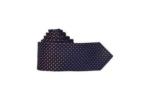 Галстук Olymp глубокого тёмно-синего цвета с контрастным дизайном