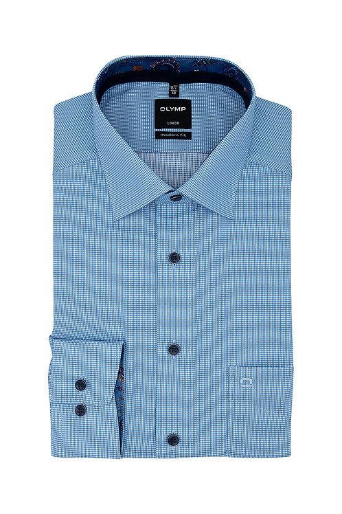 Рубашка Olymp Luxor с выделкой и контрастными воротничком и манжетами.
