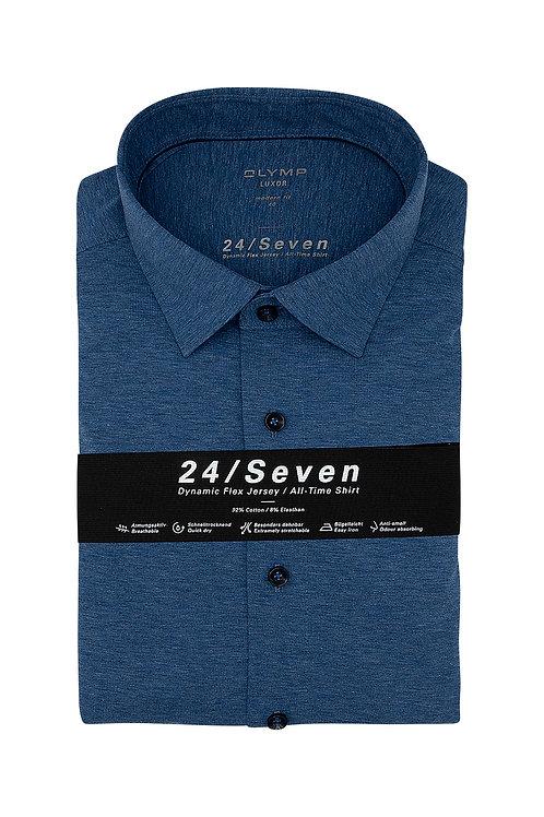 Рубашка Olymp Luxor 24/Seven в классическом синем цвете (Jersey).