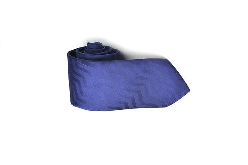 Галстук Colletto Bianco глубокого синего цвета с зигзагообразным переливом