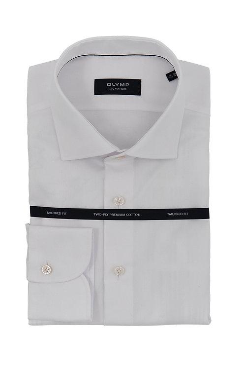 Мужская рубашка Olymp Signature Premium белая (TWILL)