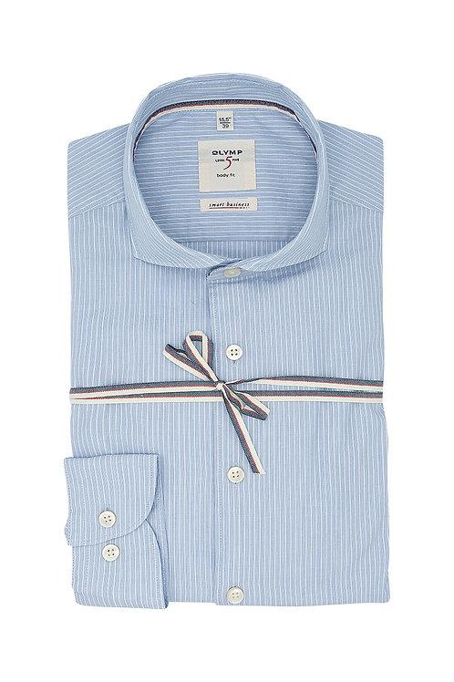 Рубашка Olymp Level Five Smart Business голубая в полоску.