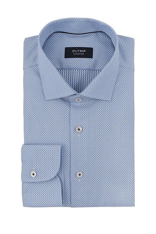 Рубашка Olymp Signature Premium светло-голубая с микродизайном