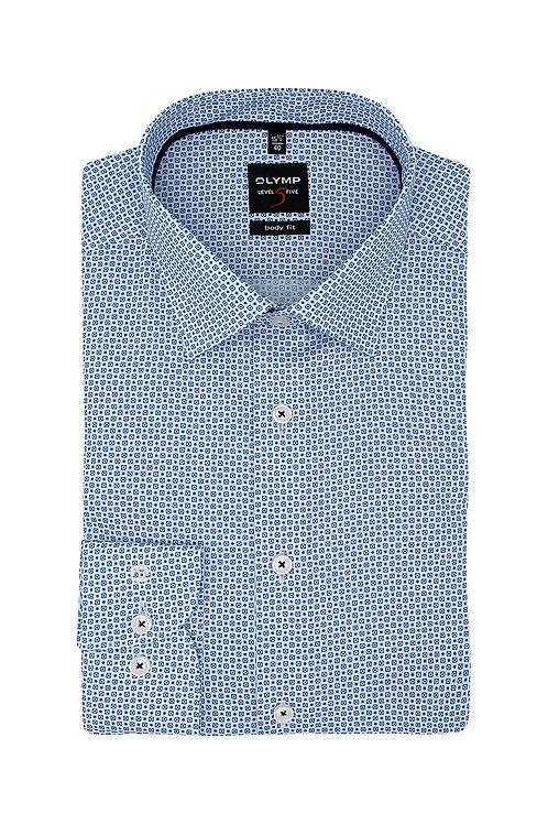 Рубашка Olymp Level Five нежно-синего оттенка с микродизайном.