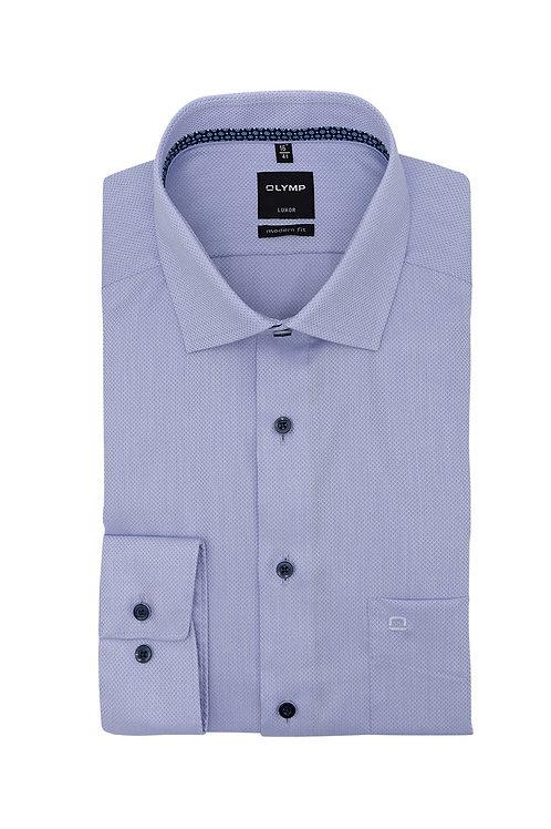 Рубашка Olymp Luxor сиреневого цвета с коллекционной выделкой.