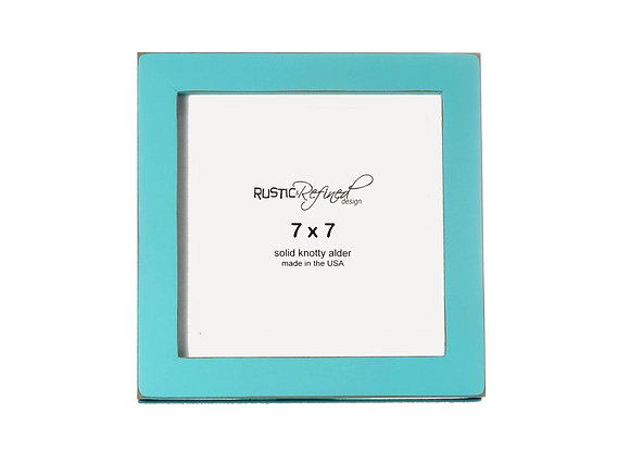"""7x7 1"""" Gallery Picture Frame - Turquoise"""