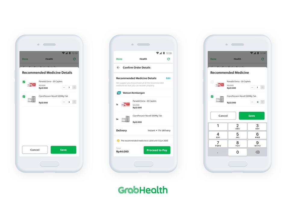 GrabHealth Prescription to Checkout Experience Design