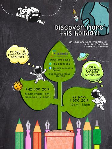 JSeeds Education Centre Holiday Program Flyer