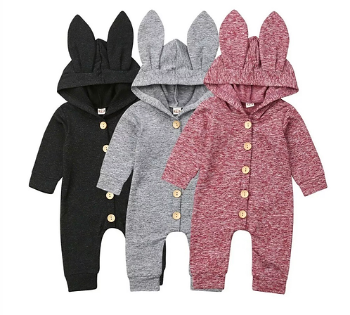 Personalised Button-up Bunny Onesie