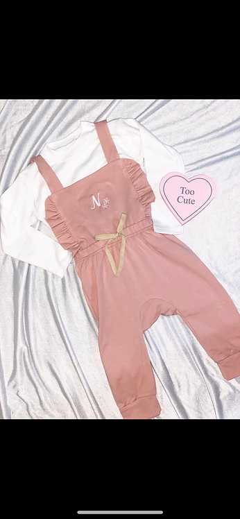 Pretty In Pink Dungarees