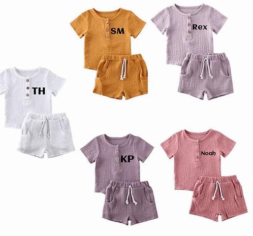 Sale Linen short set