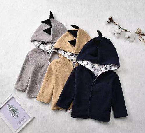 Grey Fleece Dino Jacket