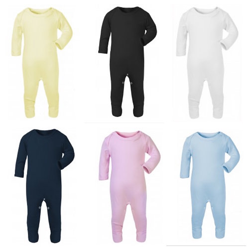 Choose design/font - Plain chest baby sleepsuit