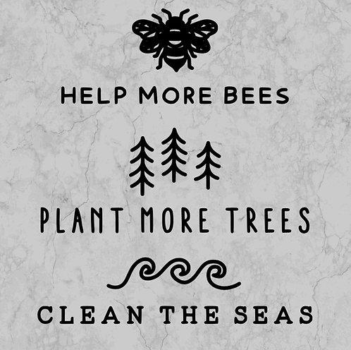 Bees, trees, seas