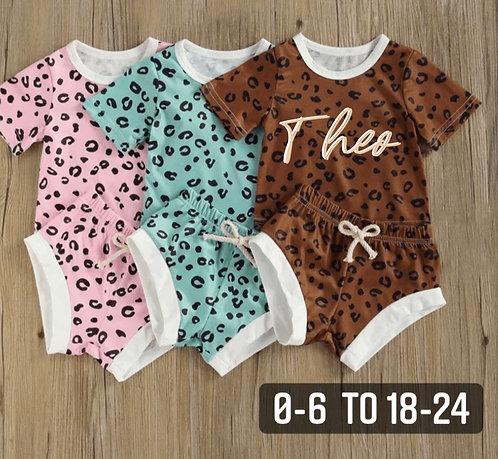 Sale Leopard short set