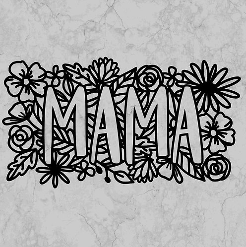Mama in flowers