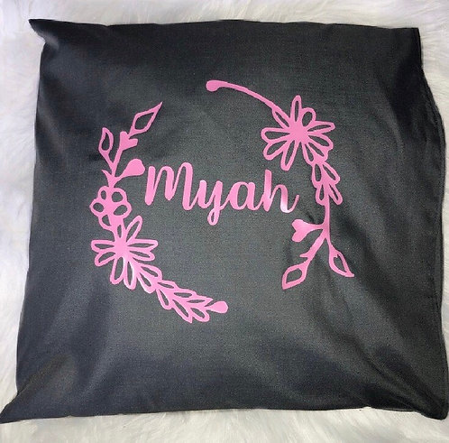 Personalised floral pillow case