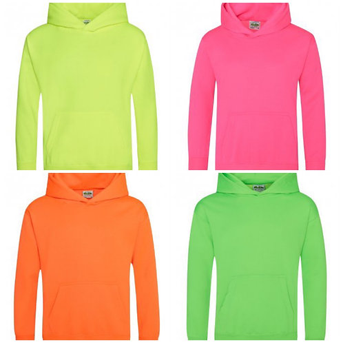 older kids florescent hoodies 3-13yrs