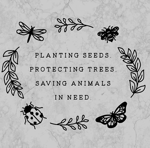 Seeds, trees, animals in need