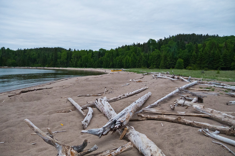 The sprawling beach at Willow River.