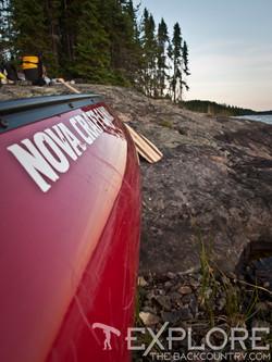 Canoe on Onaping Lake