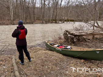 """The First Spring Paddle - """"Icebreaker"""" on the Ausable"""